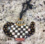 MacKenzie-Childs Teapot Ornament - HTF -