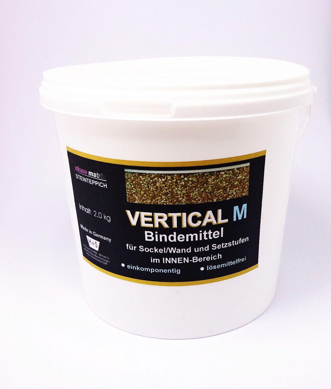 Steinteppich 1-komponentiges Bindemittel für Wand/Sockel INNEN 2 kg (17,85 €/kg)
