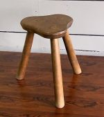 Vintage Mid Century French Oak Charlotte Perriand Style Stool