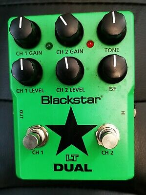 BLACKSTAR LT DUAL DISTORTION OVERDRIVE GUITAR PEDAL USED