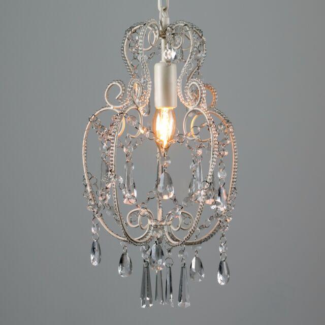 Cream White Vintage Shabby Chic Style Ceiling Pendant Light Chandelier Ing