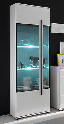Cantara Standvitrine Wohnzimmer Glasfront Vitrine Schrank 60cm weiß 759870