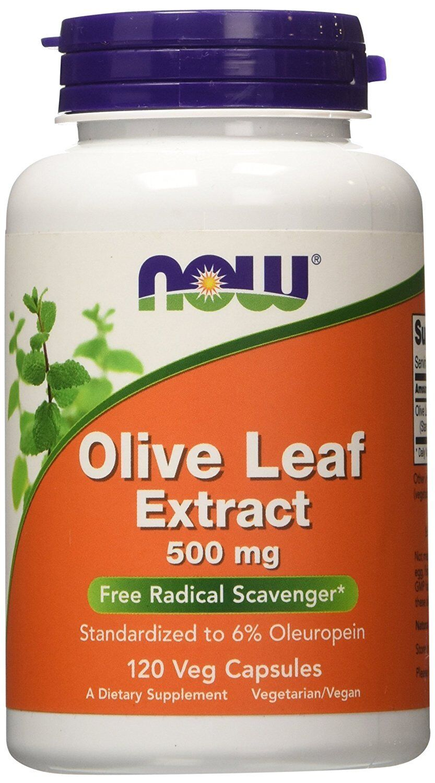 NOW FOODS, OLIVENBLATT EXTRAKT (Olive Leaf Extract) 500mg, 120 Vkap. EXTRAPREIS!