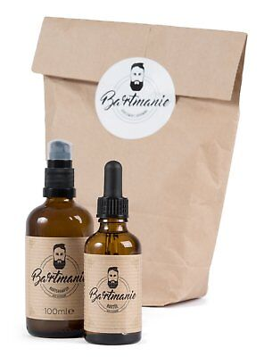 Bartmanie Bartpflege Set für den Mann (3tlg.) mit Bartöl, Bartshampoo & T-Shirt