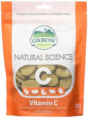 Oxbow Natural Science Small Animal Gerbil Hamster Vitamin C Supplement 60 count