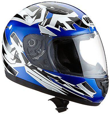 Kinder Motorradhelm Integralhelm blau-silber SA03-BL Größe XXXS bis S NEU