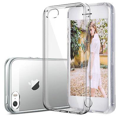 Handyhülle für iPhone 5 5S SE Case Slim Schutz Cover Silikon Transparent Klar