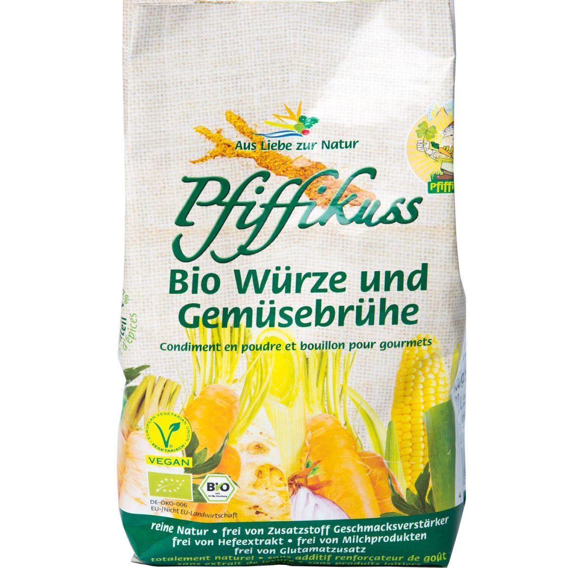 Pfiffikuss Bio Würze und Gemüsebrühe   450g Nachfüllbeutel   vegan   reine Natur