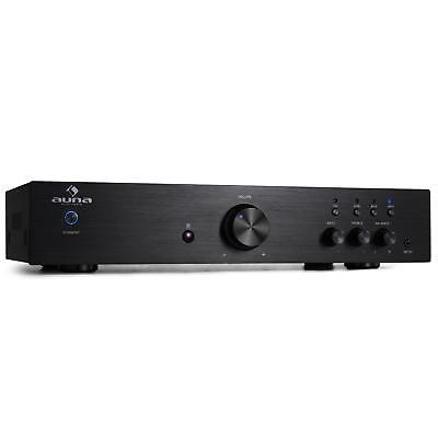 Hifi Verstärker Stereo Verstärker Vollverstärker 600 Watt schwarz Cinch AUX