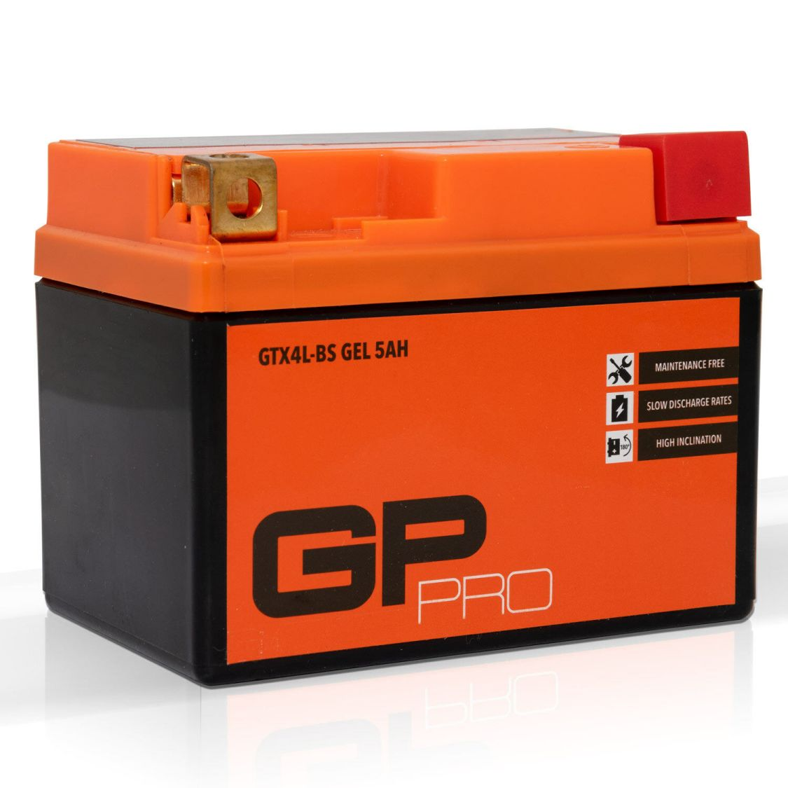 Batterie 12V 5AH GEL GP - PRO für Motorrad, Roller, Moped, Scooter