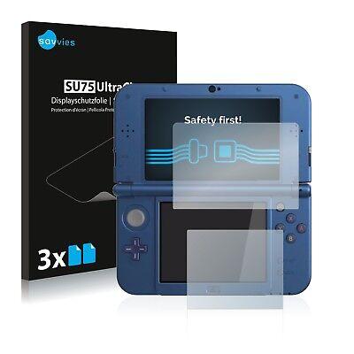 6x Displayschutzfolie Nintendo New 3DS XL Schutzfolie Klar Folie Displayfolie