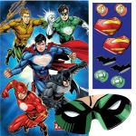 Justice League Superman Batman Green Lantern Flash Comic Birthday Party Balloon