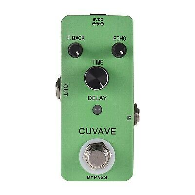 CUVAVE DELAY Analog Classic Delay Echo Guitar Effect Pedal Zinc Alloy Shell T...