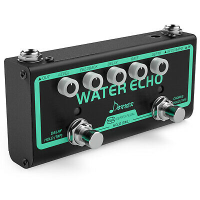 Donner Water Echo Multi Guitar Effect Pedal 2 Mode Chorus Delay Pedal Chain UK
