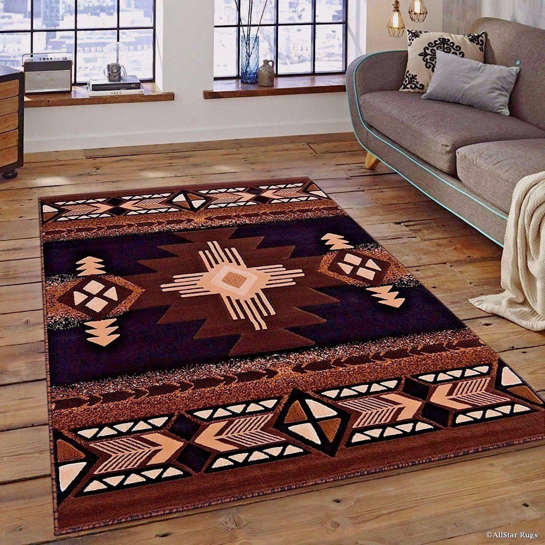 details about rugs area rugs carpets 8x10 rug floor modern large southwestern big brown rugs