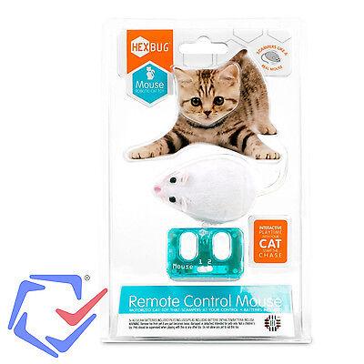 Interaktive Maus Mouse Katzenspielzeug mit Fernbedienung Hexbug Cat Toy weiss