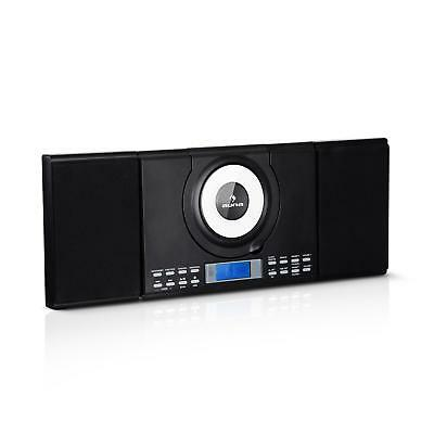 Vertikal Stereoanlage CD Player Bluetooth USB MP3 Lautsprecher Radio schwarz