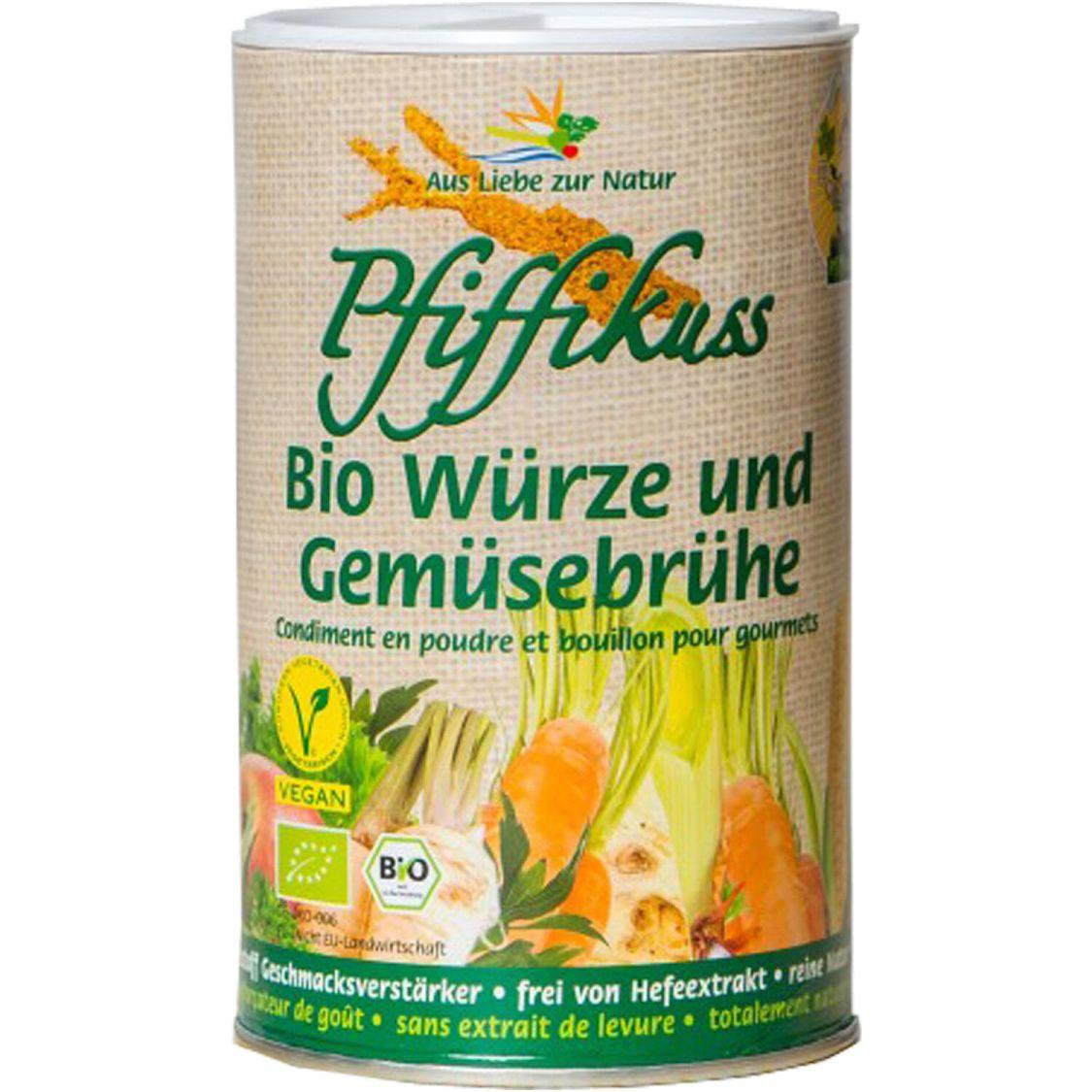 Pfiffikuss Bio Würze und Gemüsebrühe   250 g   glutamatfrei   hefefrei   vegan