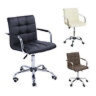 Midback Executive Modern Office Chair Computer Desk Task PU Leather Swivel