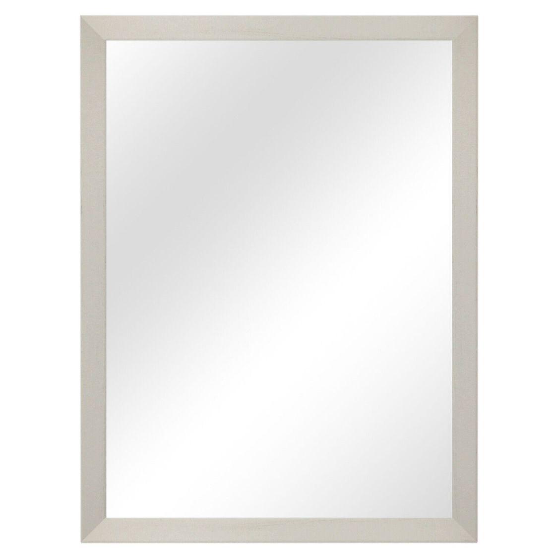 Wandspiegel 56,5x76,5cm Flurspiegel Garderobenspiegel Holz Frisierspiegel Weiß