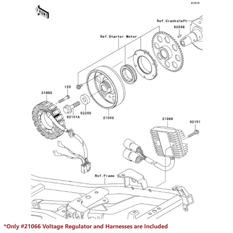 00 05 Ninja Zx 9r Zx 12r Rectifier Kit Voltage Regulator