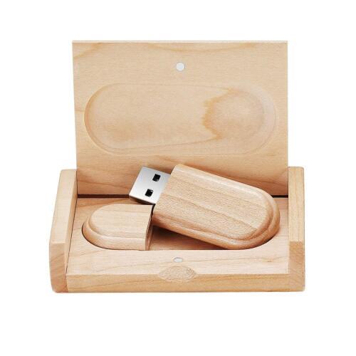 USB Flash Drive Speicher Stick (16GB 2.0) Daten Speicher Daumen Disk mit Holzbox