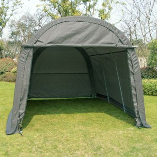 10'x15'x8' FT Storage Shed Tent Shelter Car Garage Steel Carport Canopy Cover