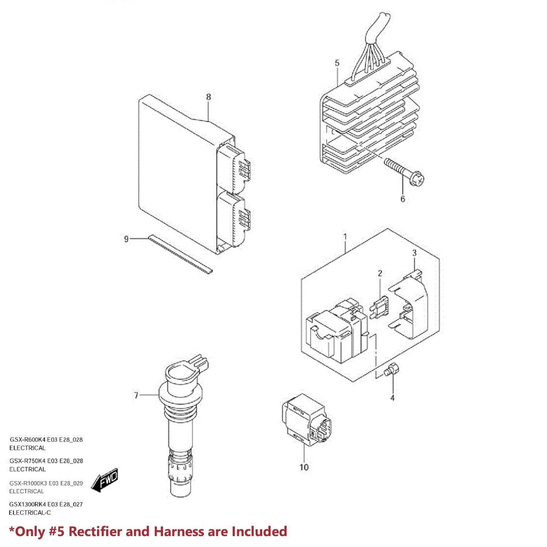 99 07 Hayabusa Gsx Magneto Coil Stator Voltage
