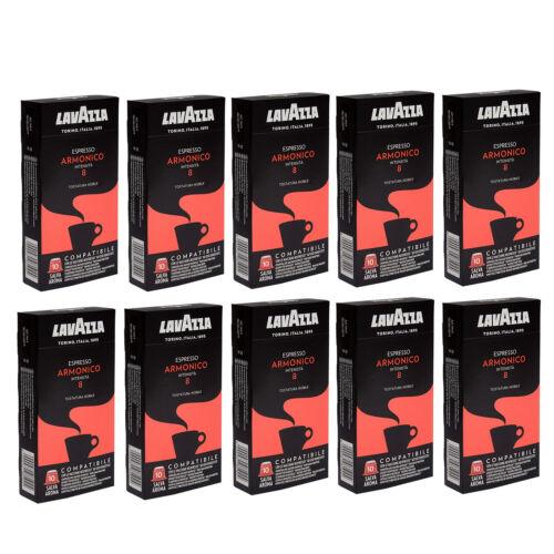 10x Lavazza ESPRESSO Armonico Kaffe Kapseln 10 Kapsel mit NESSPRESSO kompatibel