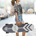 CAROMA Electric Skateboard Power Motor Cruiser Maple Deck With Wireless Remote;