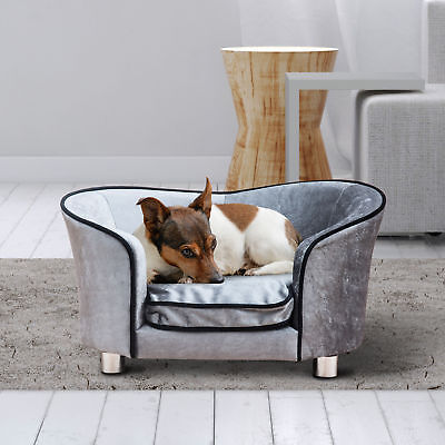 PawHut Luxus Hundesofa Hundecouch Katzensofa Hundebett Sofa Tierbett mit Kissen