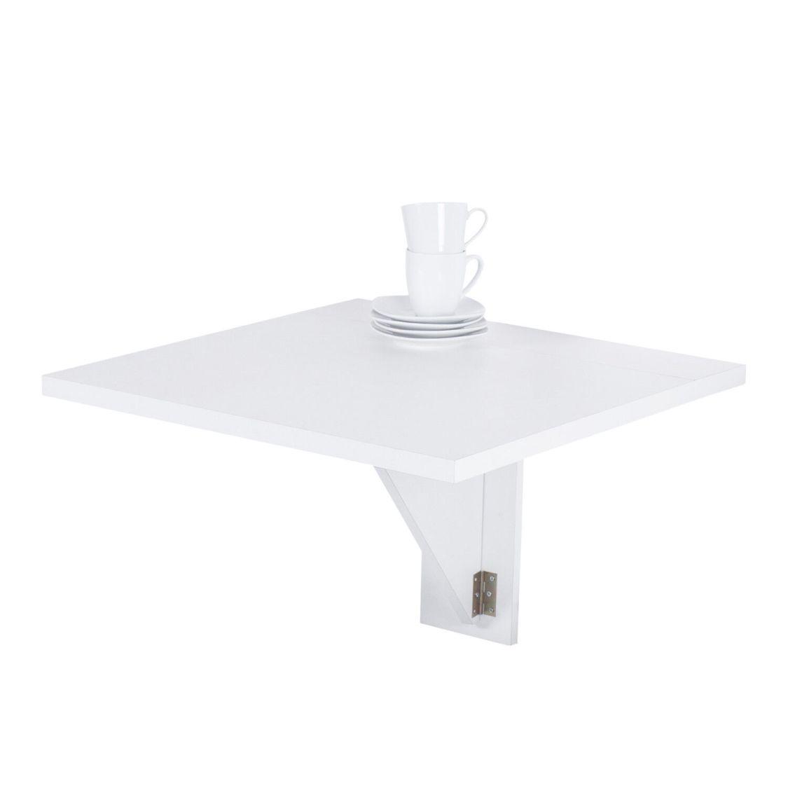 Wandtisch Luca I klappbar Klapptisch Minitisch Küchentisch Weiß
