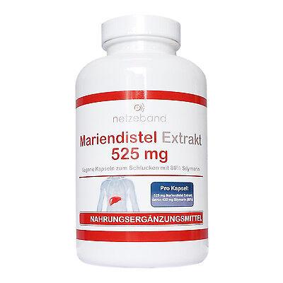 200 vegetarische Kapseln Mariendistel Extrakt 525mg (80% Silymarin 420mg)