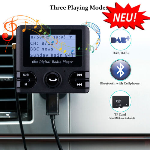 DAB/DAB+ Auto Radio Empfänger Adapter Autoradio FM Transmitter Bluetooth MP3 DE