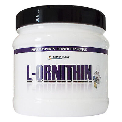 L-Ornithin, 100% reines Pulver, Dose 300g (Menge wie 600 Kapseln a 500mg)