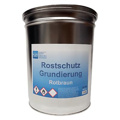 Rostschutz Grundierung Zinkphosphat Metallgrund rotbraun 3Kg AIL