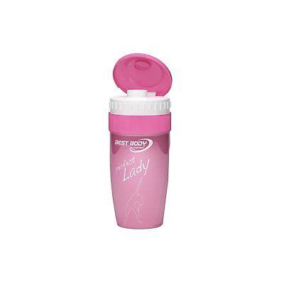 Eiweiß Shaker Protein Creatin Mixer Becher Trinkflasche Bottle 550ml Pink / Rosa