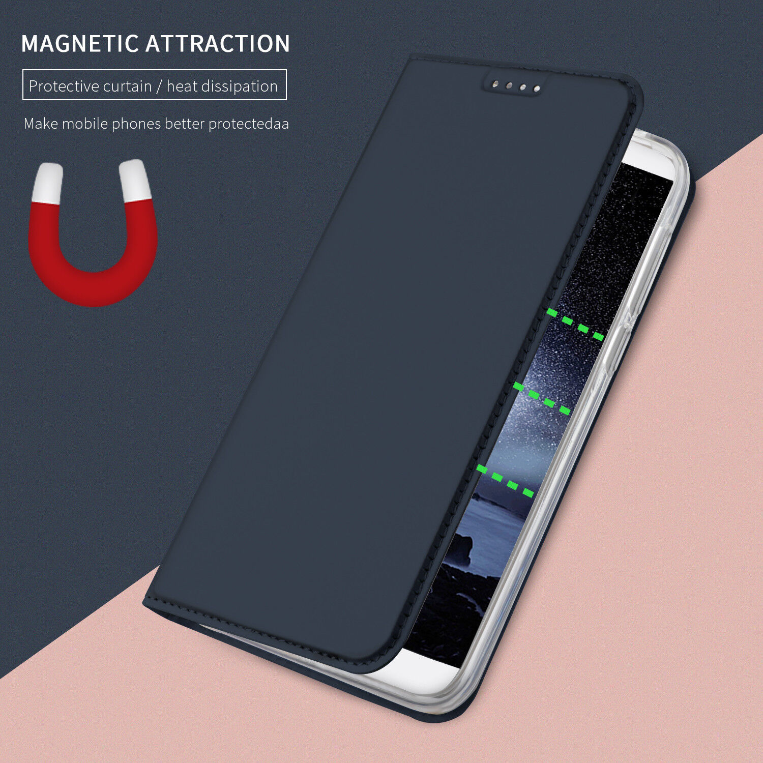 For Huawei P Smartp20 Honor 9 Lite Slim Leather Case Flip