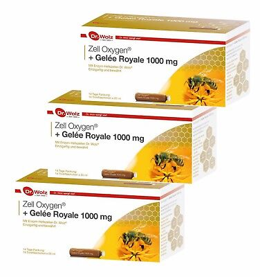 3 x Dr.Wolz Zell Oxygen+Gelee Royale 1000mg, á 14 Ampullen