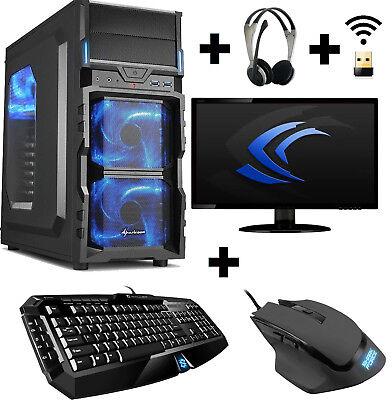 Gamer PC Komplett-Set A8 9600 4x 3,4 Ghz Radeon R7 8GB DDR4 1TB Gaming Win10