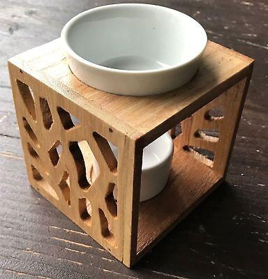 Aromalampe Aromaöllampe Duftlampe Duftöllampe Holz Keramik