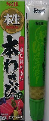 Wasabi Paste scharf, 43g original japanisch, S&B, Sushi,o. Farbstoff