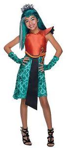 Girls Nefera de Nile Costume Monster High Halloween Fancy Dress Kids Child S M L