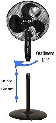 Standventilator Ø41cm Ventilator Windmaschine Klimagerät Bodenventilator Lüfter