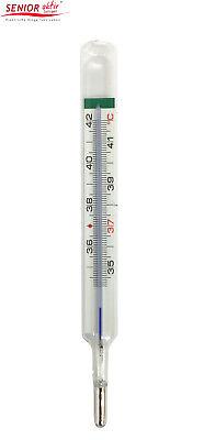 Geratherm® Fieberthermometer classic OHNE Quecksilber, aus Glas mit Schutzhülle