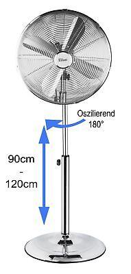 VOLLMETALL Ventilator Ø43cm Standventilator Luftkühler Klimagerät Windmaschine