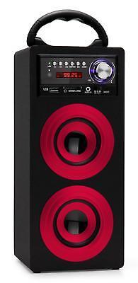 Mobil Bluetooth Lautsprecher USB SD AUX MP3 Player Radio Box Sound System rot