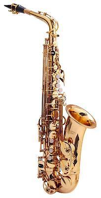 Alt Saxophon Sax Saxofon Es Stimmung Koffer Mundstück Blättchen klar lackiert