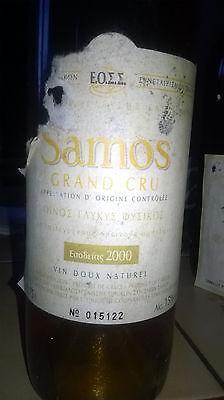 2000 Samos Grand Cru Süßwein griechischer Likörwein Dessertwein 750ml numeriert