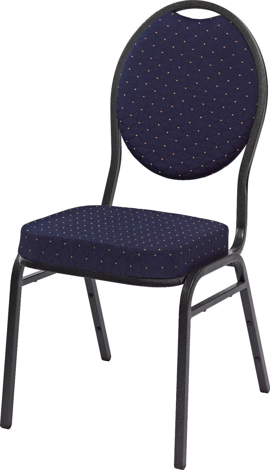 Lobu blau - Saalstuhl Stapelstuhl Stapelstühle Bankettstuhl Seminarstuhl Stuhl